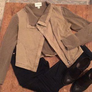 Anthropologie Marrakech Cotton Moto Jacket